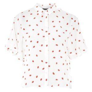 Topshop Lip Print Shirt
